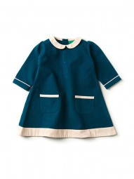 Mädchen Cordkleid LA blau Fairtrade Little Green Radicals