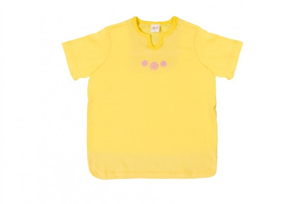 Kinder Kurzarm Shirt gelb Bio Baumwolle People Wear Organic_1.jpg