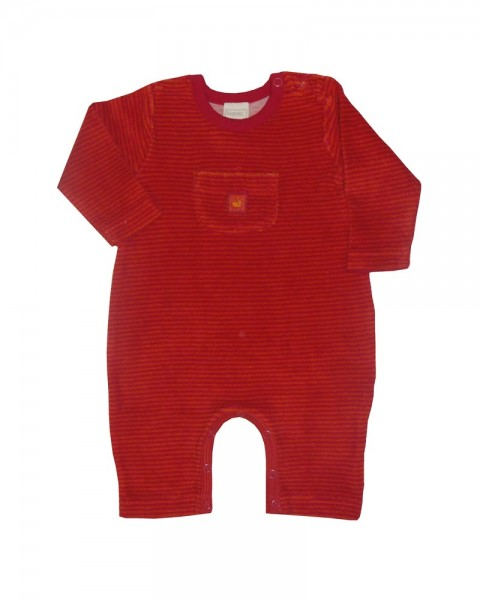 Baby Overall Ted rot 100% kbA Baumwolle Lana_1.jpg