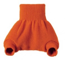 Baby Woll-Windelhose orange kbT Merino-Wolle Disana