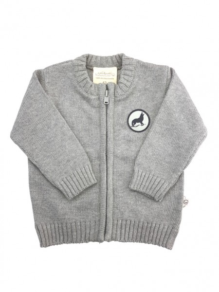 Baby Strickjacke grau Fairtrade EBi & EBi_1.jpg